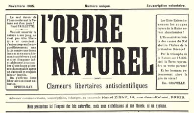 journal ordre naturel