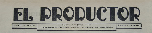 journal el productor 1925
