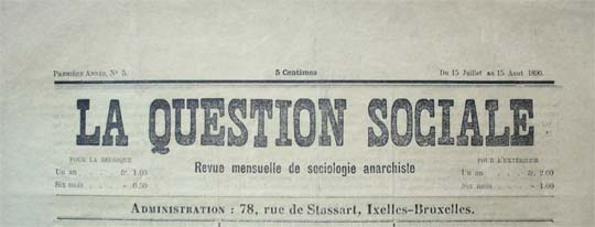 "journal belge ""La Question sociale"""