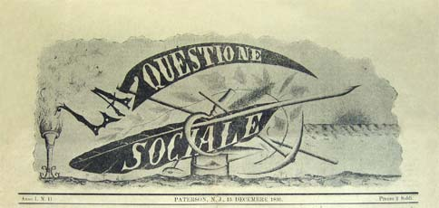 La Questione social logo; no. du 14 January 1899; source ephemeride anarchiste / ytak.club.fr/
