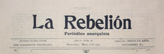 "journal d'Uruguay ""La Rebelion"""