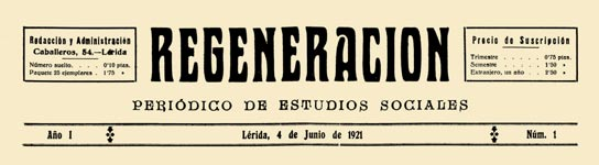 "journal ""Regeneracion"" Lerida"