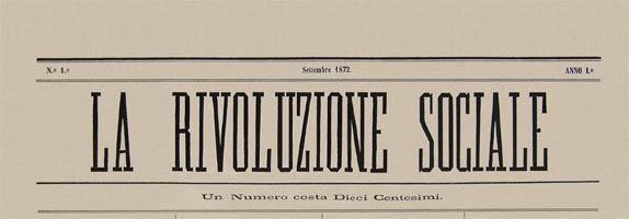 Diario italiano La rivoluzione sociales