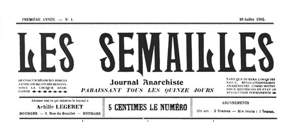 "journal ""Les Semailles"" n1"