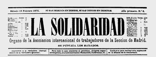 "journal ""La Solidaridad"" de 1870"