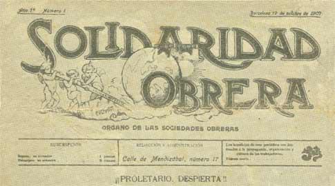 cabecera de Solidaridad Obrera # 1