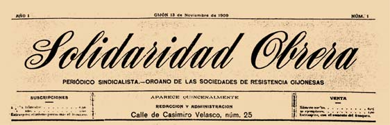 "journal ""Solidaridad Obrera"" de Gijón"