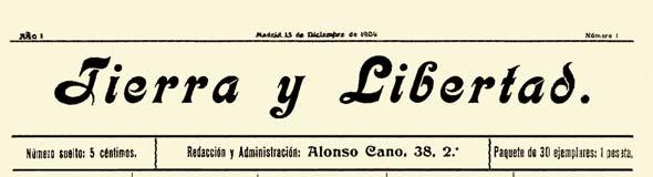 """periódico """"Tierra y Libertad"""" 1904"""
