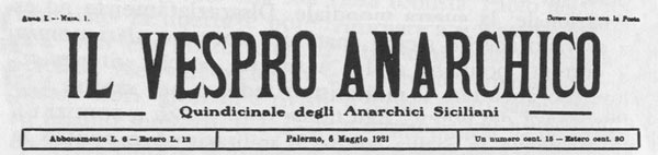 "journal ""Il Vespro Anarchico"""
