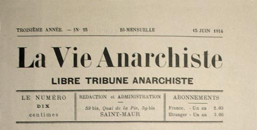 "journal ""La vie Anarchiste"""
