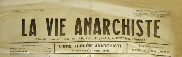 "journa ""La Vie Anarchiste"""