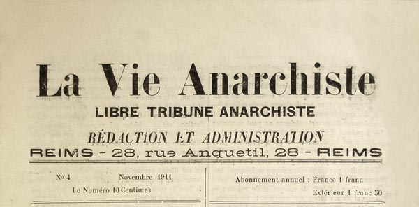 "journal ""La Vie Anarchiste"" n4"