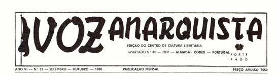 Voz Portugués periódico anarquista