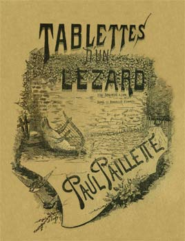 tablettes d'un lézard