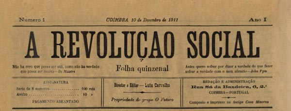"journal ""a revolucao social"" n1"