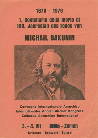 affiche colloque Bakounine 1976
