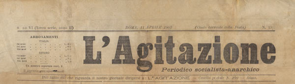 "journal ""L'Agitazione"""