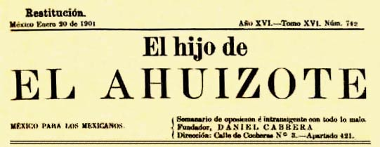 "journal ""El Ahuizote"""