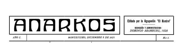 journal Anarkos n1 de 1921