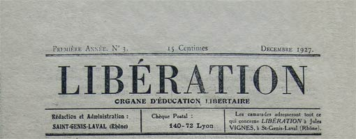 journal liberation de 1927
