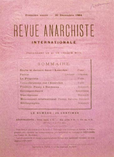 """Revue Anarchiste internationale"" n2"
